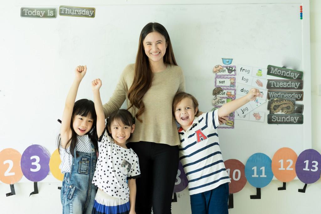 teacher with her pupils