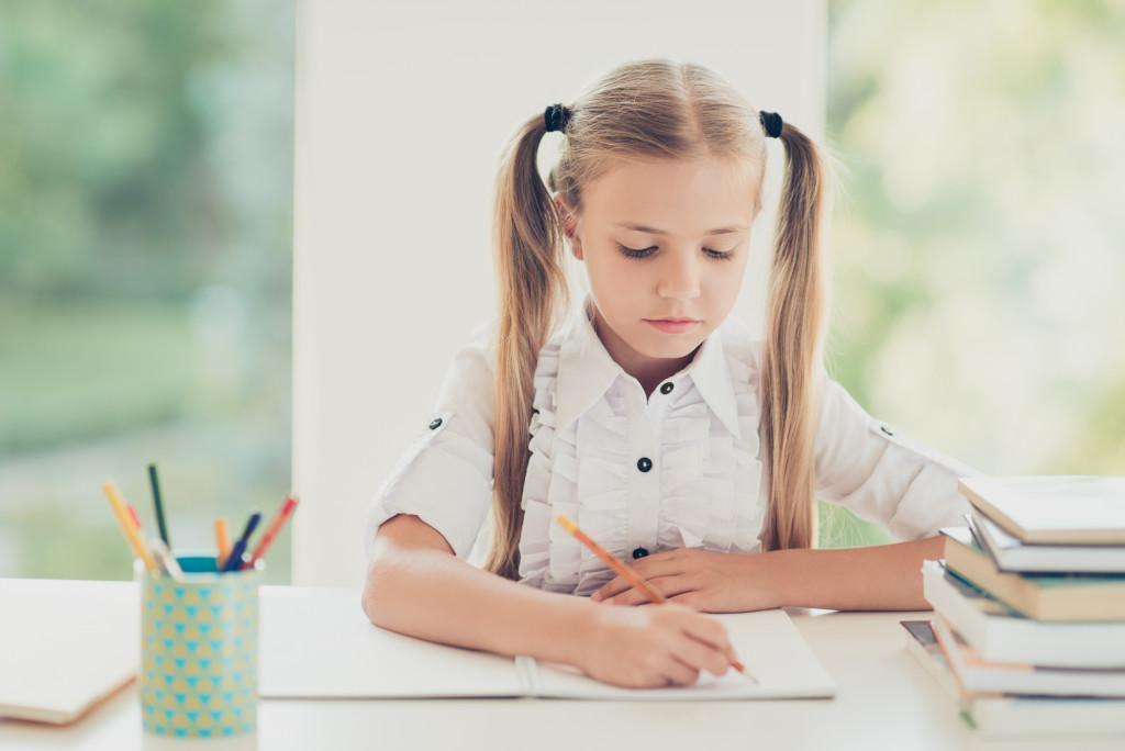 kid, studying
